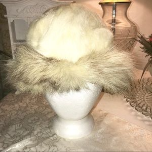 Vintage Genuine Fox and Rabbit Winter Hat